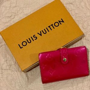 Louis Vuitton Pink Vernis Wallet